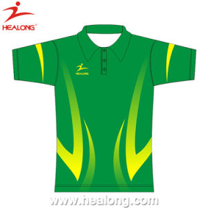 Healong Sportswear Top Brand Full Sublimation Polo Shirt pictures & photos