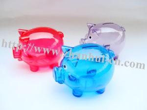 plastic transparent money saving box pictures & photos