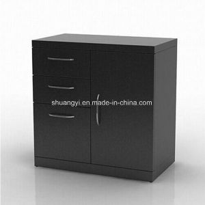 Living Room Furniture European Market Black Storage Cabinet pictures & photos