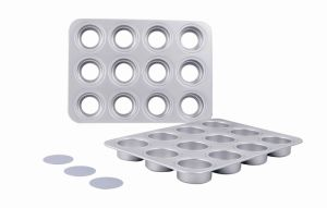 Bakeware Aluminum Anodized 12 Hole Muffin Pan Loose Base (MY2952A) pictures & photos
