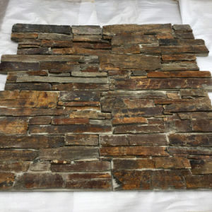 Natural Rusty Slate Exterior Wall Stone Covering (SMC-CC171) pictures & photos