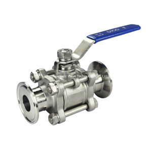 3PC Stainless Steel Ball Valve with Clamp Ends pictures & photos