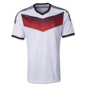 Maillot De Foot New 2014 World Cup Germany Home White Camisetas De Futbol Short Sleeve Football Shirts and German National Team Soccer Jerseys Uniforms Kit