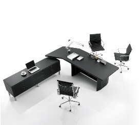 Leather Furnishing Office Desk (HY-021)