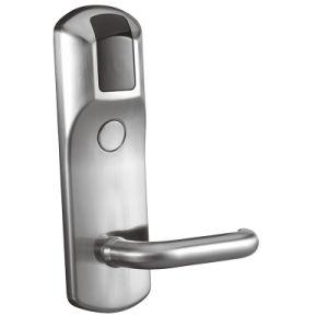 Chrome Zinc Alloy Electric Door Lock RF Card Hotel Management System Smart Door Lock pictures & photos