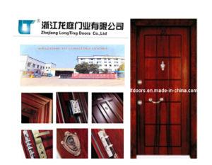 Turkey Steel Wooden Armored Door with ISO Certificate pictures & photos