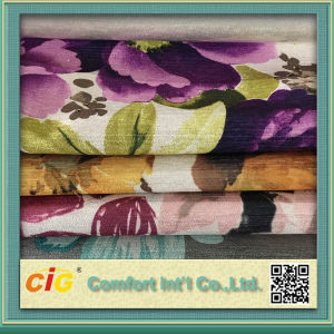 Fashion Soft Velvet Printing Fabric for Sofa pictures & photos