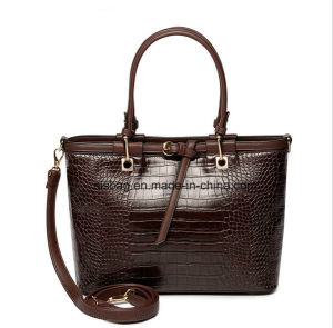 Classical Crocodile Grain PU Women Handbag Fashion Hand Bag pictures & photos