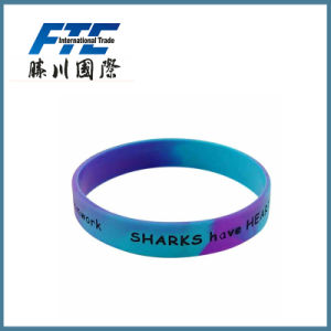 Ink Filled Silicone Wristband with Logo pictures & photos