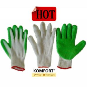 Latex Coated Protective Hand Winter Work Glove (JMC-424B) pictures & photos
