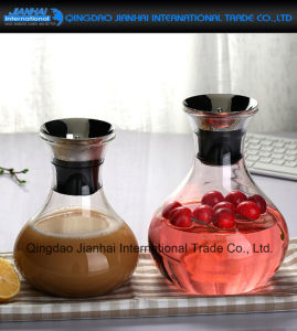 New Design Glass Iced Tea Pitcher with Stainless Steel Lid pictures & photos