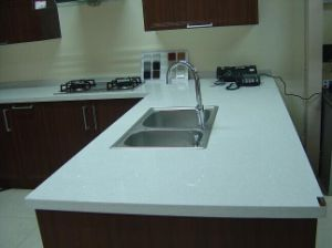Grey Color Artificial Quartz Stone for Kitchen Counter Tops
