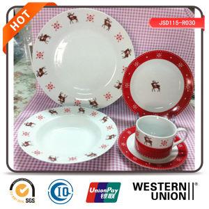 30PCS Ceramic Dinnerware for Christmas Promotion