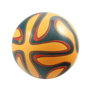 PVC Inflatable Printing Yellow Football Toy for Children′s Sports