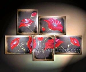 Group Handmade Modern Flower Oil Painting on Canvas pictures & photos