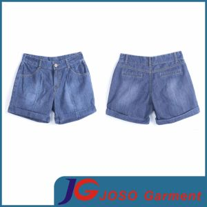 Women Casual Wide Leg Denim Shorts (JC6038) pictures & photos