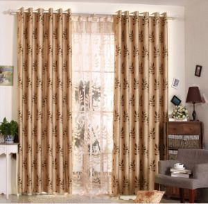 Simple Style Yarn Dyed Jacquard Fabric Curtain (MX-165) pictures & photos
