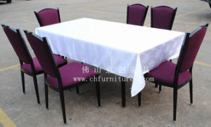 Wholesale Fancy Wedding Retangular Satin Table Cloths (YC0288-2) pictures & photos