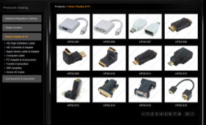 Premium Hq Side Angled HDMI Cable V1.4 pictures & photos