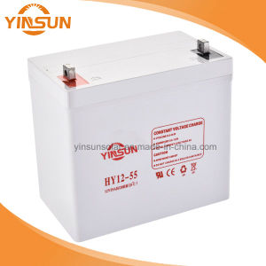 12V 55ah Lead-Acid Battery Solar Battery for Solar Panel System pictures & photos