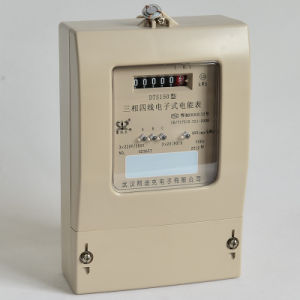 Plastic Single Phase Static Active Energy Meter with LED Indicator pictures & photos