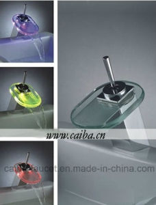 Single Handle LED Waterfall Basin Faucet pictures & photos