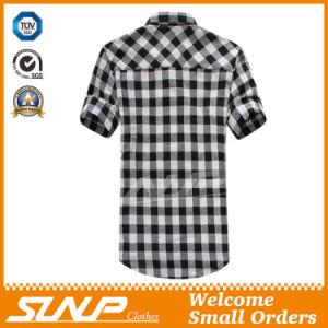 2016 Suumer OEM High Quality Men′s Plaid Short Sleeve Shirt