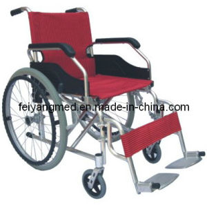 Aluminum Folding Wheelchair with Detachable Footrest pictures & photos