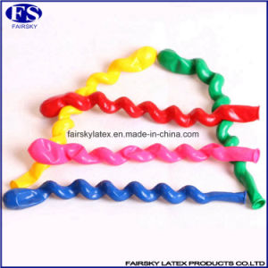 Colorful Shaped Inflatable Spiral Latex Balloons with Low Price pictures & photos