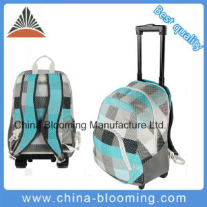 Polyester Trolley Rolling School Student Backpack Bag pictures & photos