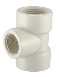 PVC-U BS Theraded Pipe Fittings Female Reducing Tee pictures & photos