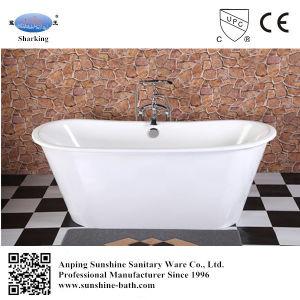 White Outside Color Freestanding Enamel Cast Iron Skirted Bathtub Sw-1002c