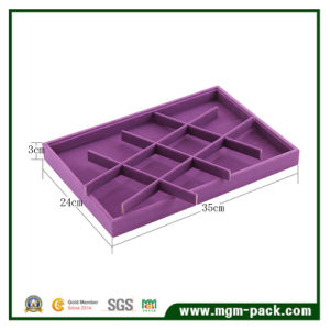 High Quality Purple Velvet Jewelry Display Tray pictures & photos