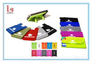 Low Cost Smart Wallet Silicone Sticker Phone Card Holder pictures & photos