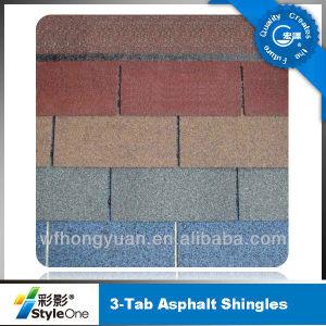 Plain Tiles Type 3 Tab Asphalt Roof Shingles pictures & photos
