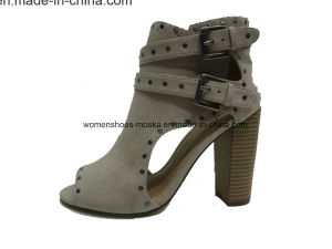 Hot Selling Women Fashion Chunky Heel Ankle Boots pictures & photos