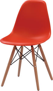 Wholesale Plastic Dining Chair with Wooden Legs (FOH-BCC07) pictures & photos