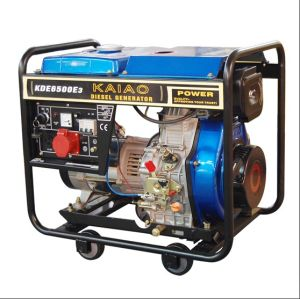 Self Running Hand 6kVA Portable Generators 3 Phase (KDE6500X3) pictures & photos