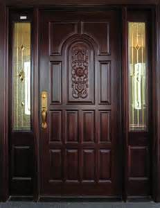 Timber Exterior Door/Wood Villa Luxury Door with Top Quality pictures & photos