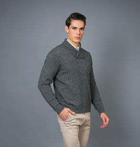Men′ S Fashion Cashmere Blend Sweater 17brpv080 pictures & photos