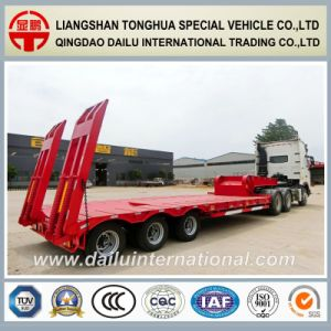3-Axles Tires Covered Low Bed Semi Trailer on Seasonal Promotion