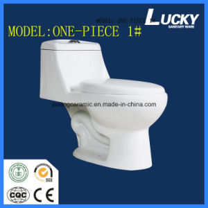 Wc Hot One-Piece Ceramic Toilet with Saso/Ce pictures & photos