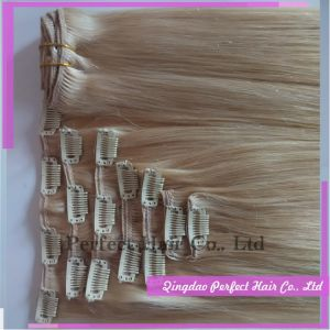 Peruvian Clip in Virgin Human Hair Extensions pictures & photos