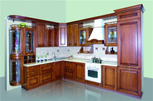 American Style Kitchen Furniture Solid Wood Maple Kitchen Cabinet (Hy081) pictures & photos