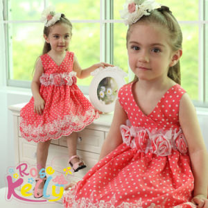 Girls Lovely Pink Dress (9121#)