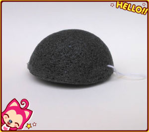 100% Natural Konjac Fiber Bamboo Charcoal Konjac Sponge pictures & photos
