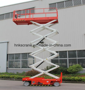Manual/Hydraulic Vertical Cargo Portable Lift Table/Merchandise pictures & photos