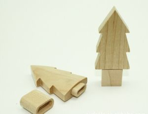 Tree Shape Wooden USB Flash Drive (OM-W057) pictures & photos