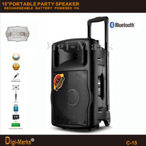 Guangzhou Manufacturer Price Multi-Functional Bluetooth Stereo Battery Active Trolley Speaker pictures & photos