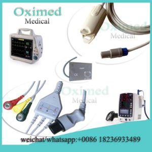 Mindray Mec1200 Original SpO2 Adapter Sensor Cable, 6pin 0010-30-43110, Mindray Mec-1200 Adult SpO2 Sensor